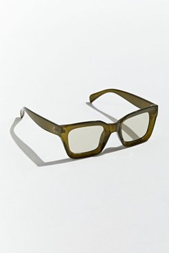 Beveled Plastic Square Sunglasses - Green at Urban Outfitters