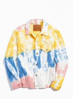 Levi's Haight Surfer Tie-Dye Denim Trucker Jacket - Assorted L at Urban Outfitters