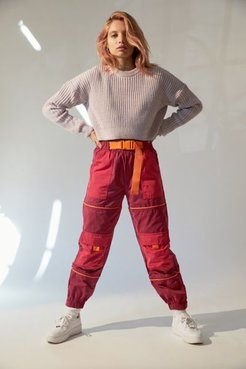 UO Neil Colorblock Belted Snow Pant - Red L at Urban Outfitters