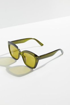 Adair Oversized Square Sunglasses - Green at Urban Outfitters