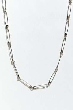 Ariel Neman UO Exclusive Safety Pin Necklace - Silver at Urban Outfitters