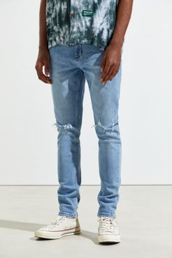 Tim Slim Crush Destroyed Jean - Blue 32 at Urban Outfitters