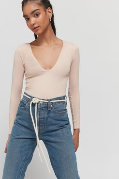Rope Belt - Beige M/l at Urban Outfitters