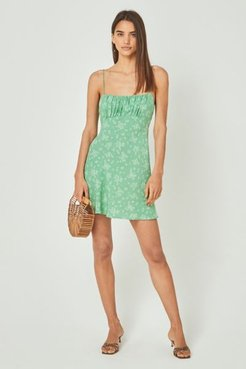 Maeve Davis Mini Dress - Green 6 at Urban Outfitters