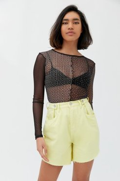 Baggy High-Waisted Short - Lemon Sorbet - Yellow 28 at Urban Outfitters