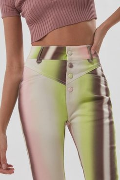 High-Waisted Capri Pant - Multi 6 at Urban Outfitters