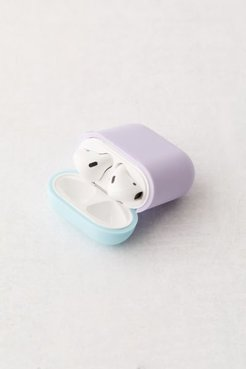 Silicone Duo Cap AirPods Case - Purple at Urban Outfitters