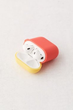Silicone Duo Cap AirPods Case - Red at Urban Outfitters