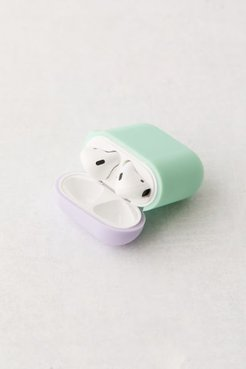 Silicone Duo Cap AirPods Case - Mint at Urban Outfitters