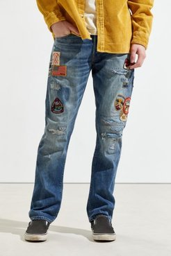 Varick Patch Slim Jean - Blue 34 at Urban Outfitters