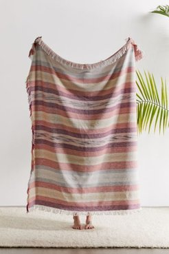 Natural Island Throw Blanket - Pink at Urban Outfitters