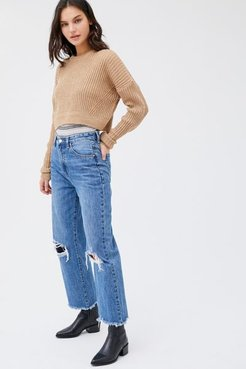 Hi Mum High-Waisted Wide Leg Jean - Blue 27 at Urban Outfitters