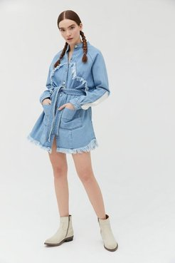 Texan Oversized Denim Jacket - Blue Xs at Urban Outfitters