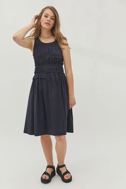 Ruffle Smocked Midi Dress