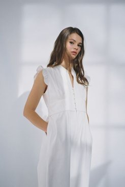 Frilly Wide Leg Jumpsuit
