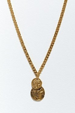 Double Coin Necklace - Gold at Urban Outfitters