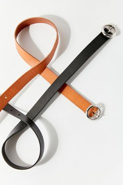 Modern Circle Buckle Belt - Black M at Urban Outfitters