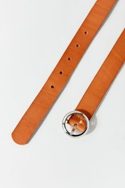 Modern Circle Buckle Belt - Brown S at Urban Outfitters