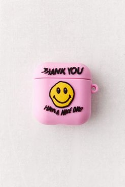 X Smiley UO Exclusive Have A Nice Day AirPods Case - Pink at Urban Outfitters