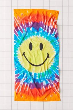 X Smiley UO Exclusive Tie-Dye Beach Towel - Assorted at Urban Outfitters