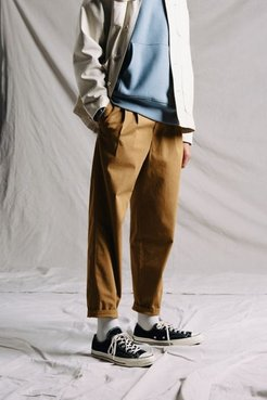 UO Exclusive Pleated Pant - Brown 32 at Urban Outfitters
