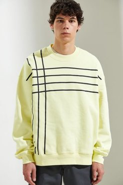 Subtle Stripe Crew Neck Sweatshirt