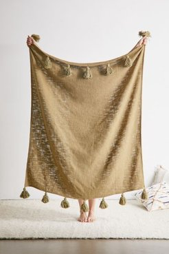 Annie Throw Blanket - Green at Urban Outfitters