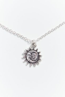 Mystic Moon Pendant Necklace - Silver at Urban Outfitters