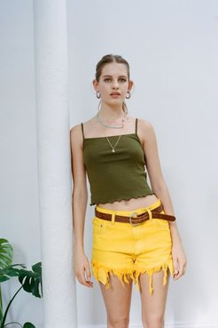 Urban Renewal Recycled Levi's Neon Denim Short - Yellow Xs at Urban Outfitters