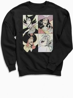 Disney Villains Anime Crew Neck Sweatshirt