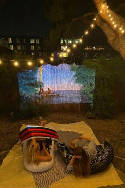 Home Theater Projector And Screen - White at Urban Outfitters