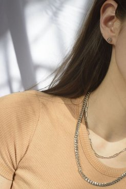 Frankie Layer Necklace - Silver at Urban Outfitters