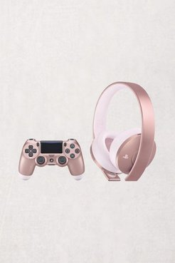 PlayStation 4 Rose Gold DualShock 4 Wireless Controller And Headset Bundle - Pink at Urban Outfitters