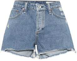 Dre distressed denim shorts