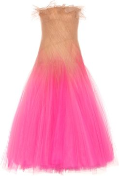 Strapless tulle gown
