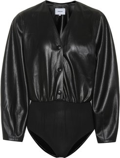 Exclusive to Mytheresa – Dara faux leather bodysuit