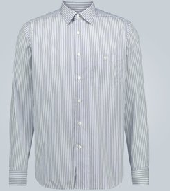 Cotton slim-fit striped shirt