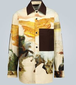 Osmar horse-print cotton overshirt