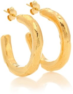 The Etruscan Reminder 24kt gold-plated hoop earrings