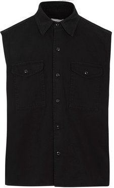 Sleeveless overshirt