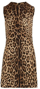 Short stretch leopard print dress