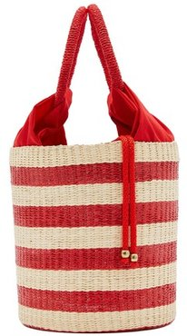 Handbag with fabric pouch