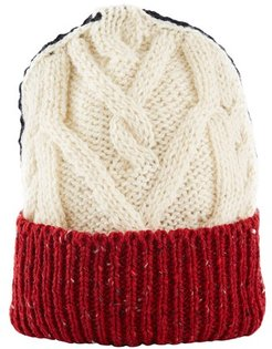 Aran Cable wool and mohair beanie