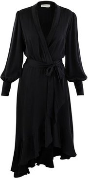 Super Eight silk wrap dress