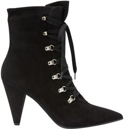 Laced ankle boots