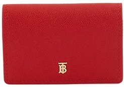 Grainy Leather Card Case with Detachable Strap