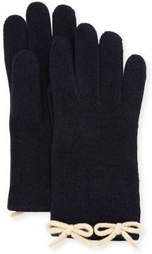 Cashmere Knit Bow Gloves