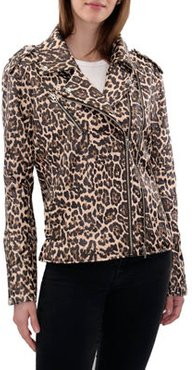 Printed Faux-Leather Moto