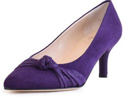 Suede Pointed Dress Pumps