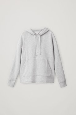 CROPPED ORGANIC COTTON HOODIE